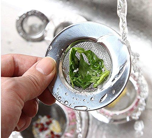 Amasawa 2 Pezzi colino in Acciaio InoxMini Sink StrainerAcciaio Inossidabile setaccio lavello Conduit vegetale del Filtro per Doccia Vasca da Bagno o lavelli da Cucina