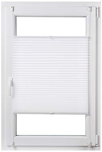 AmazonBasics  Tenda a rullo plissettata in robusto tessuto di poliestere con sistema a clip 60 x 130 cm Bianco