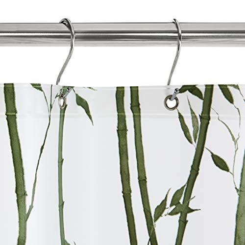 AmazonBasics  Tenda da doccia in polietilene vinil acetato media bamb 183 x 183 cm