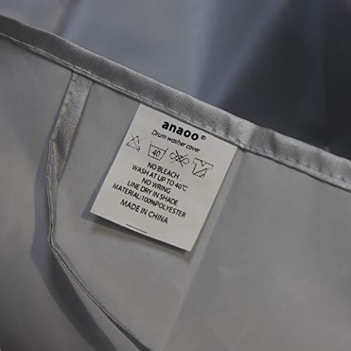 anaoo copertura per lavatrice per esterno per caricare impermeabile antipolvere lieve crema solare allaperto nei 556085 cm