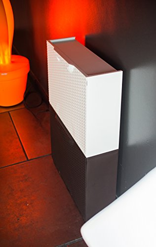 Art Plast U50FRW Scarpiera in plastica Effetto Rattan Bianco
