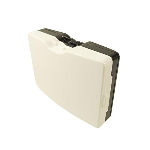 Astuccio porta mascherina chirurgica Sottile e discreto Lavabile in lavastoviglie Confezione da 2 pezzi Bianco Nero