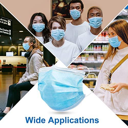 AXHKIO Mascherine protettive Respiratore per Maschera Antipolvere Mascherina di Protezione Anti inquinamento 50 pz mascherine Blu