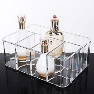 Bekith 5compartments trasparente acrilico organizzatore cosmetici vassoio supporto di qualit