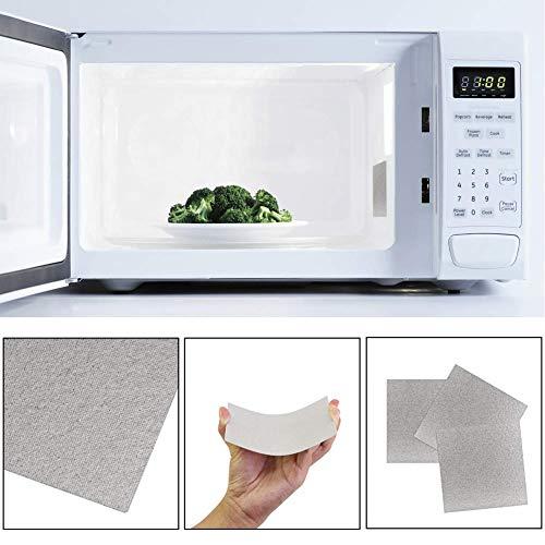 BESTZY 10pcs Forno a microonde Piastre Mica Riparare Parte Fogli Piastre Mica Accessori per forni microonde Kit 13 x 13 cm