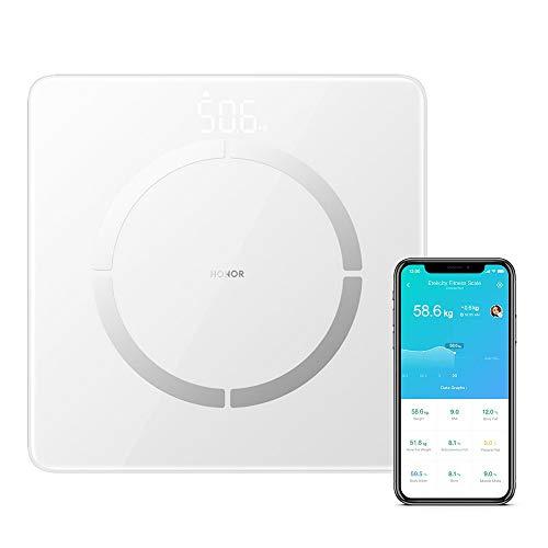 Bilancia Pesa Persona Digitale HONOR Scale 2 Bilancia Pesapersone Impedenziometrica Senza Fili Bluetooth IntelligenteBilancia Pesapersone Digitale con 14 Indici di Misurazione Massa Grassa