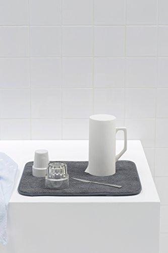 Brabantia Sink Side Tappetino Scolapiatti Microfibra Grigio Dark Grey 47 x 40 x 1 cm