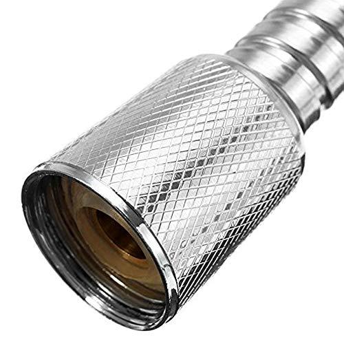 Buwico  Tubo di ricambio extra lungo per doccia 3 m in acciaio INOX