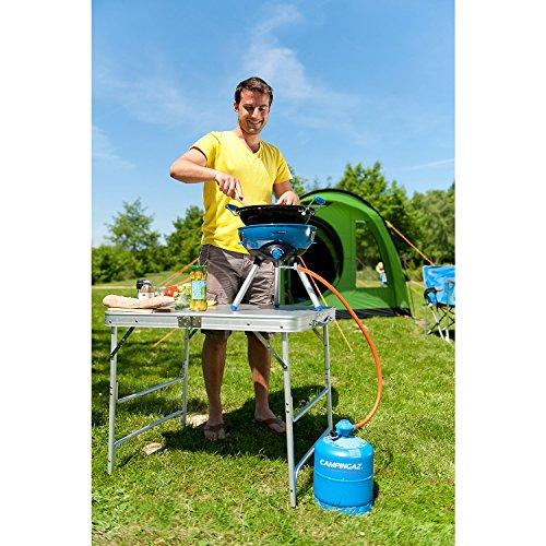 Campingaz Party Grill 400 Fornello da Campeggio Barbecue a Gas Tutto in Uno Con Griglia e Fornello Barbecue da Tavolo Per Grigliate allAperto