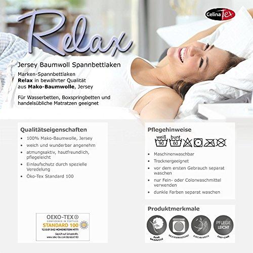 CelinaTex Relax Lenzuolo Elasticizzato Letto Contenitore Letto ad Acqua Cotone 180x200200x220 cm Rosso