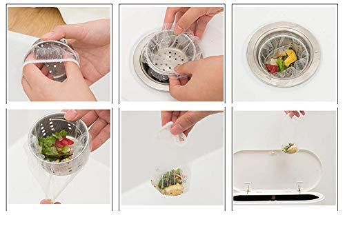 Clafund 100x Filtro per lavandino USA e Getta Filtro per lavello da CucinaFiltro Raccogli CapelliVentose per LavandinoFiltro per Capelli DocciaVasca da Bagno e Doccia Bianco 100 Pezzi
