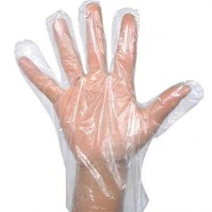 Confezione da 400 guanti monouso in plastica trasparente monouso per lavori in polietilene cucinare pulire lavare dipingere farsi la tinta