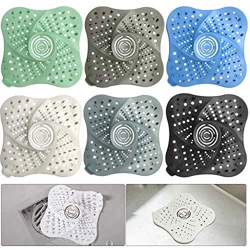 Corrines  Set di 6 protezioni per scarichi per doccia e scarico dei capelli in silicone