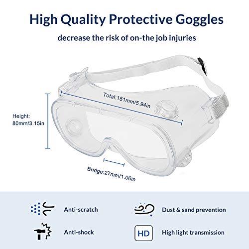 Cyxus Occhiali di sicurezza occhiali antiappannamento Occhiali di protezione per ambienti di lavoro sovraspecifiche per edilizia laboratorio chimica personale o professiona Occhiali medici 9003