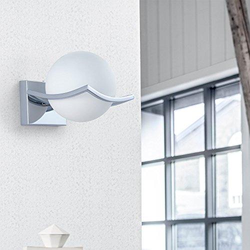 DAXGD LED Luci sfera di vetro Lampade da parete Applique da parete Interno per camera da letto soggiorno corridoio