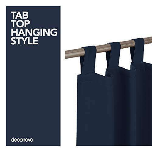 Deconovo Tende Oscuranti Termiche Isolanti con Passanti Tende per finestre per la Camera da Letto 140x245 CM Blu Navy 2 Pannelli