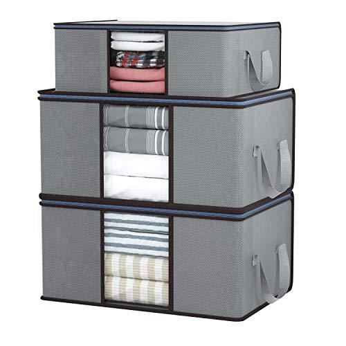 qishengshengwukeji contenitori per Armadio in Tessuto scatole per Armadio Sacchi per Piumini Big Bag per la conservazione Borse per riporre i Vestiti Custodia di Stoffa 2,s