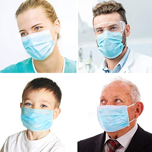 Dispositivi per protezione quotidiana dalla polvere cuscinetti usa e getta sottili con elastici per le orecchie cuscinetti di sicurezza usa e getta per mezzo viso 50 pezzi