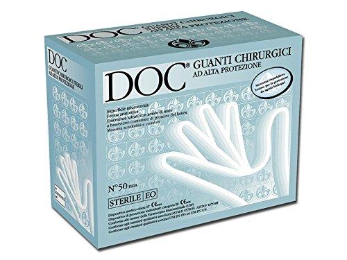DOC Guanti Chirurgici Sterili in Lattice 75 Confezione 50 Coppie