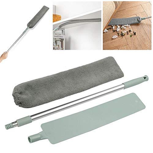 Dumcuw Spazzola per la pulizia della polvere asta telescopica regolabile per la pulizia della polvere strumenti per la pulizia della casa e del pavimento bagnati e asciutti