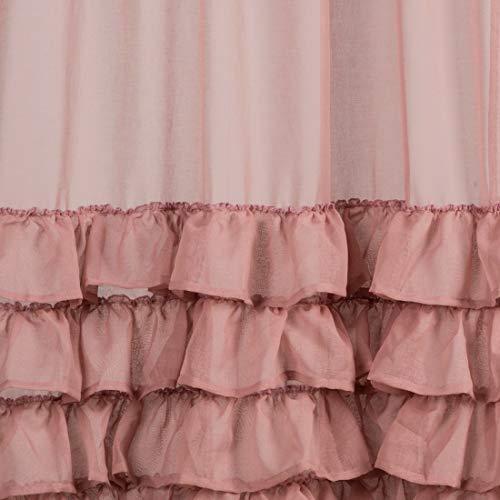 Eurofirany Tenda a mantovana Liscia in Polvere 140 x 270 cm Trasparente Elegante di Alta qualit Glamour per Camera da Letto Soggiorno Salotto Cipria 140 x 250 cm