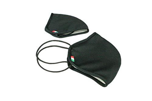 Fascia Protettiva Conca Adulti nera lavabile e riutilizzabile tessuto antibatterico certificato OEKOTEX protegge naso e bocca Made in Italy