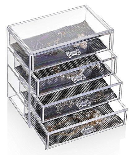 Feibrand Porta Trucchi 4 Cassetti Organizzatore Make up