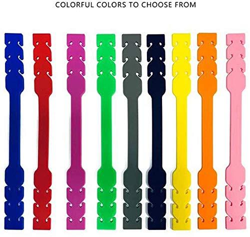 Fibbia Estensione Mascherine  10 Pezzi Multicolor  3 Livelli di Regolazione  Rilassa Orecchie  Materiale 100 Silicone  Lavabili