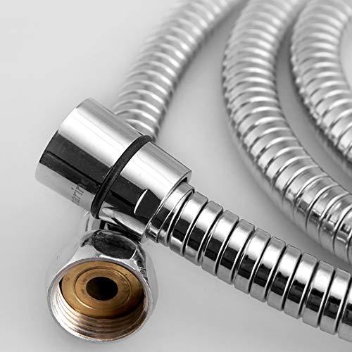 Flessibili Doccia 16M Tubo Doccia Tubo flessibile in Acciaio Inox Tenuta Cromato Attrezzature per bagni Adatto a Tutti i Soffione Doccia