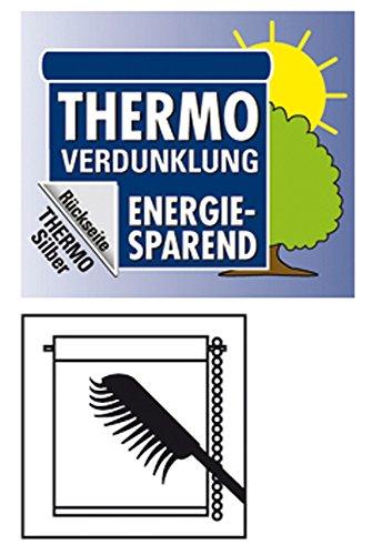GARDINIA Tenda a rullo con rivestimento termico con morsetto o adesiva Elevato riflesso della luce Risparmio energetico Opaca Kit di montaggio incluso EASYFIX Tenda a rullo con rivestimento termico Ardesia 100 x 150 cm LxA