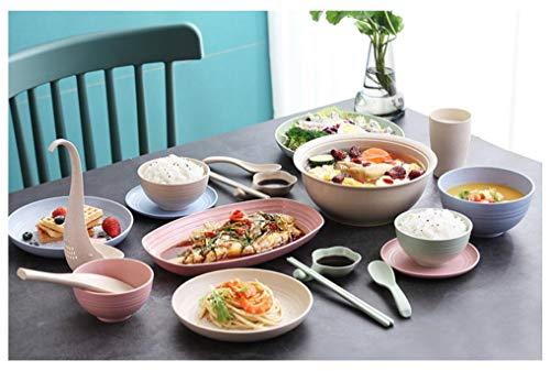 Greenandlife Lightweight Wheat Straw Sheet 4 228 cm lavastoviglie non distruttiva e forno a microonde non tossico bisfenolo A libero adatto per luso da bambini bambini e adulti