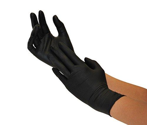 Guanti in Nitrile 200 pezzi scatole S Nero guanti da visita monouso senza polvere guanti per la pulizia cucina sanitaria pulizia della cucina senza lattice pulizia sicurezza manipolazione d