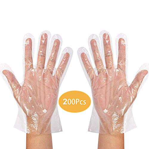Guanti monouso in plastica trasparente protezione da virus guanti da cucina per barbecue casa bagno guanti per la pulizia della cucina 200 pezzi