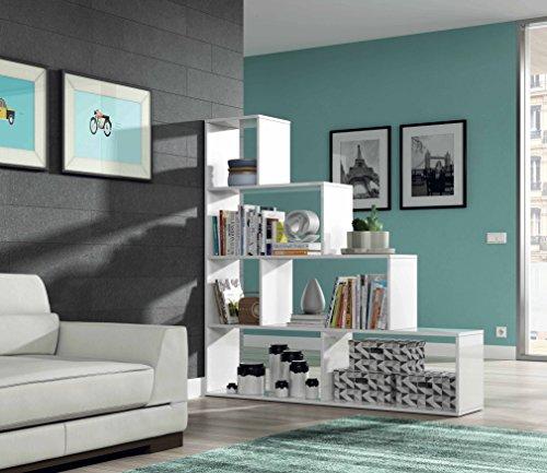 Habitdesign 002255BO  Mensola Decorativa Finitura Bianco Lucido Misure 145 x 145 x 29 cm