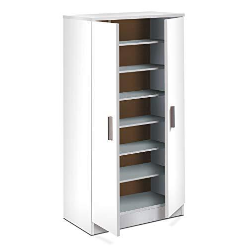Habitdesign 007813O  Scarpiera Basic Mobili ausiliari in colore Bianco Brillante Misure 108 cm altezza x 55 cm lunghezza x 36 cm profondit