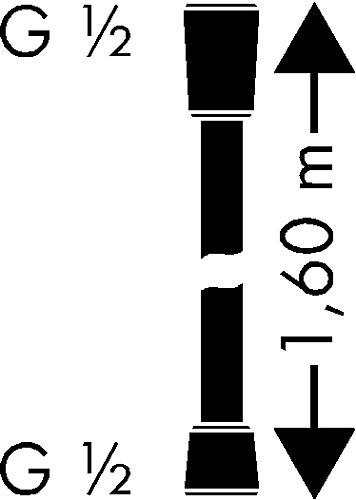 Hansgrohe 28276000 Flessibile Isiflex Argento