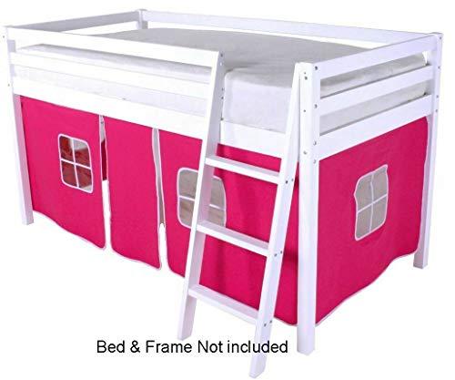 HLS  Tenda per letto a soppalco a castello colore rosa