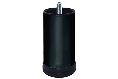 Home System 675602 Piedino in Metallo per Divani e Mobili Diametro 60 H 120 mm Nero