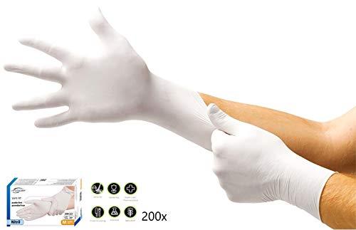 Hygonorm  Guanti in nitrile senza talcatura misura M 200 pz colore bianco