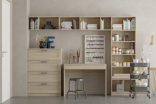 Iconico Home MIK Libreria 6 ripiani Soggiorno Studio Hobby Camera da letto Cameretta ragazzi 60x30xh1905 cm Rovere