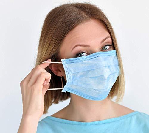 In pronta consegna Mascherina chirurgica monouso 3 strati antipolvere tessuto non tessuto TNT scatola da 50 pezzi