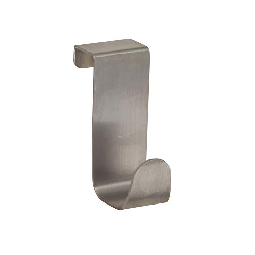 InterDesign Forma Pratico Porta Asciugamani Senza Montaggio E Forature Piccolo Gancio Appendiabiti In Acciaio Argento