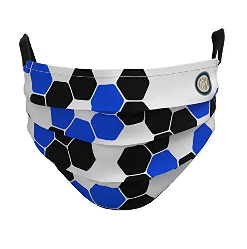 Inter Mascherina Facciale Unisex  Adulto Blu 18 cm