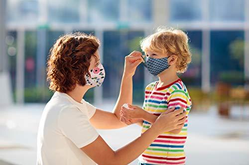 Kanguru Green Mask set 2 pezzi mascherina facciale 100 cotone lavabile riutilizzabile per adulto