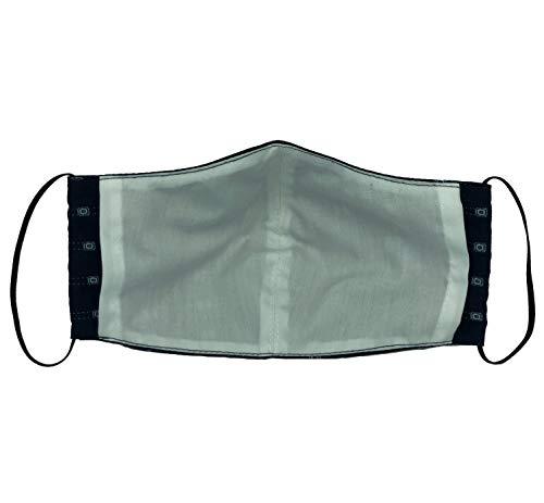 Kanguru Green Mask set 2 pezzi mascherina facciale 100 cotone lavabile riutilizzabile per bambinoragazzo 612 anni