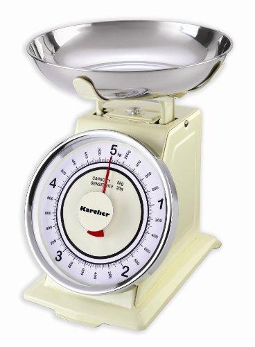Karcher 130130 WAK 811 Bilancia da cucina meccanica rtro color magnolia