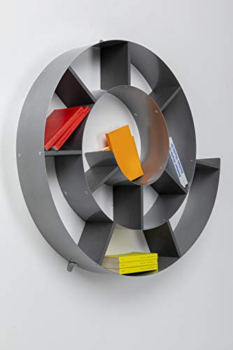 Kare 70755 Libreria da parete modello Snail 75 x 75 x 13 cm Argento legno