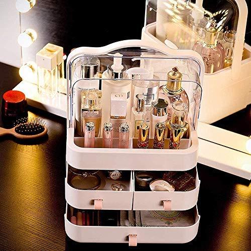 Kertou Organizer per Cosmetici Organizzatore di Trucco Grande Capacit Organizer Trucchi Multifunzione Girevole per Cosmetici Gioielli e Accessori