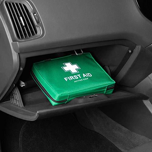 Kit di Primo Soccorso Premium 220 Pezzi Include Kit Lavaggio Oculare 2 x Ghiaccio Pronto Uso e Coperta di Emergenza Per Casa Ufficio Auto Roulotte Luogo di Lavoro Viaggi e Sport
