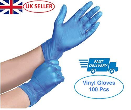 KMART  Guanti usa e getta in vinile senza polvere colore blu taglia S M L e XL confezione da 100 M Blu 100